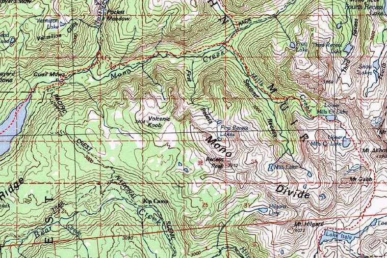north lake to south lake loop map Sierra High Route Planning north lake to south lake loop map